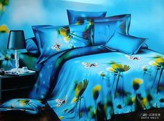 Butterfly And Sunflower Duvet Cover Set 3D Bedding