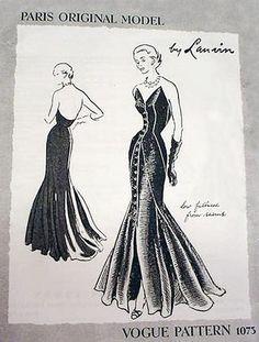 Vintage pattern: Vogue Paris Original 1073 - Lanvin