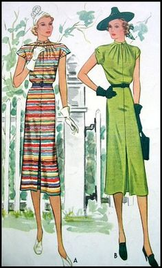 https://flic.kr/p/4hRqk4 | Vintage 1938 McCall Pattern Book | These vintage sewing patterns and images are from my personal collection. Please feel free to use them for Inspiration, for design reference, in your art etc., but please don't use them in collage sheets to sell or any other commercial purposes. Grazia Milla
