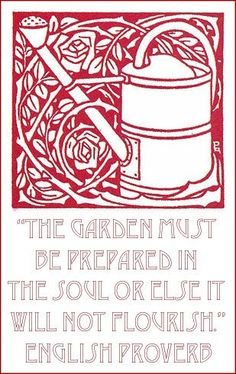 English Gardening Proverb