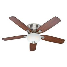 Hunter Princeton 52 in. Indoor Brushed Nickel Ceiling Fan-53269 - The Home Depot