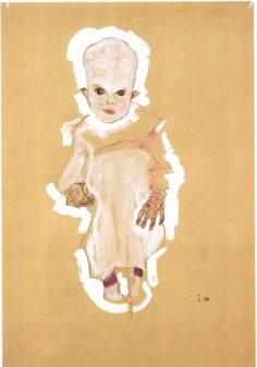 Egon Schiele, Baby - 1910 - He probably decided drawing babies wasn't for him...