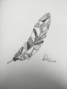 Geometrical feather