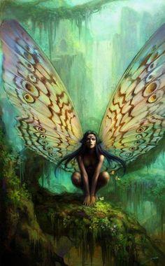 Love the wings fairy pixie elven nymph woodland magic fantasy art Fairy Dust, Fairy Land, Fairy Tales, Forest Fairy, Magical Creatures, Fantasy Creatures, Fantasy Kunst, Fantasy Art, Elfen Fantasy