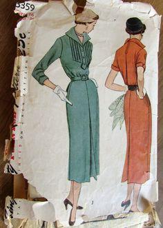 Vintage patronen simplicity 3359