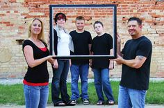 Family with Teens Picture Frame McHam Lifestyle Photography