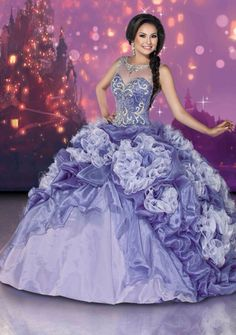 A pretty dress inspired by the movie Tangled.