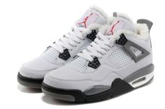 new concept 11431 da3b6 New Images  Jordan 4 (Fur Lining)Release White Grey Basketball Shoes. Sara  Leslie · Nike Air Force 1