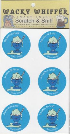Wacky Whiffer Scratch and Sniff Stickers Chocolate Mint Ice Cream ITM#SII001E3 #WackyWhiffer #ScratchSniff