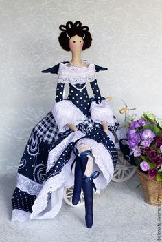 Items similar to Fairy with a little blue bird on Etsy Tilda Toy, Realistic Baby Dolls, Bird Dress, Sewing Dolls, Pretty Dolls, Fairy Dolls, Soft Dolls, Doll Crafts, Crochet Dolls