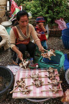 Street food in Luang Prabang Laos