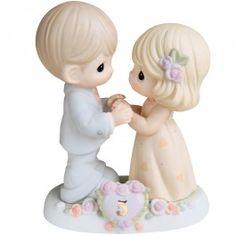 """""""I Fall In Love With You More Each Day - 5th Anniversary"""" Bisque Porcelain Figurine"""