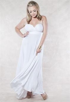 Eternity Maxi Convertible Dress in White   Plus Size Dresses   OneStopPlus