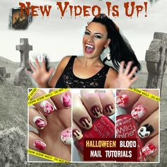 If your feeling a little blood thirsty for this weeks new Halloween Inspired Nail Art Tutorial! + Video
