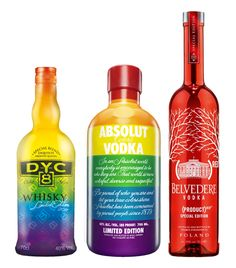 Special editions of DYC ABSOLUT and BELVEDERE from our collection.