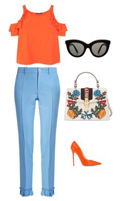 """""""romantic day outfit"""" by explorer-14869926922 on Polyvore featuring мода, Gucci, MANGO, Jimmy Choo и Victoria Beckham"""