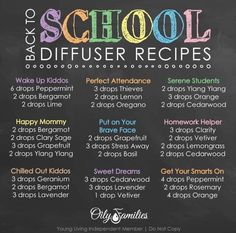 Back to school diffuser recipes that are super helpful to keep kids rested and focused! Oils are a huge part of our school routine!