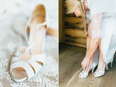 Intimate Wedding Austria | Katja + Fabi Getting Ready Bride Hochzeit Braut Shoes Wedding Dress Details