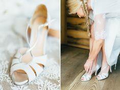 Intimate Wedding Austria | Katja + Fabi Getting Ready Bride Hochzeit Braut Shoes Wedding Dress Details