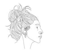 Self-portrait made with Illustrator.  #illustration #illustrator #ilustracion #lines