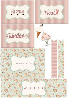 Ice Cream Party - PRINTABLES