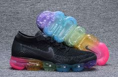 purchase cheap 811a7 5eb23 Nike Air VaporMax High Quality Nike Air VaporMax Flyknit 849558 001 Black  Colorful Shoe For Discount