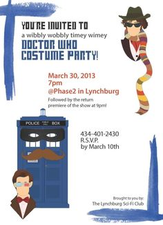 Doctor who party invitation!