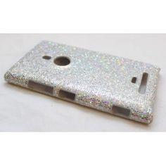 Lumia 925 hopea glitter suojakuori.