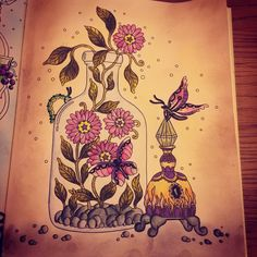 #hannakarlzon #tidevarv  #hannakarlzontidevarv #adultcoloringbook #coloringforadults #coloringaddict #arttherapy #coloringaddict #derwentinktense