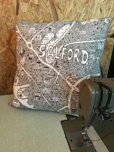 SalfordDoodle Map Cushion - £35
