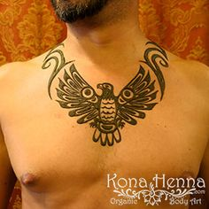 Wow for this eagle necklace henna by Kona!