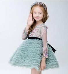 Girly Shop I High Quality Flower Girl Dresses Little Girl Dresses, Girls Dresses, Flower Girl Dresses, Fall Dresses, Cute Summer Outfits, Kids Outfits, Birthday Ideas For Her, Diy Mode, Partys