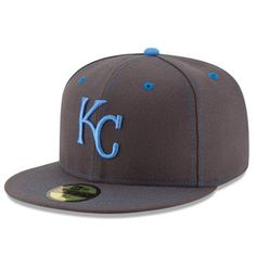 d3b71805be6 Men s Kansas City Royals New Era Graphite 2016 Father s Day 59FIFTY Fitted Hat  Kansas City Royals