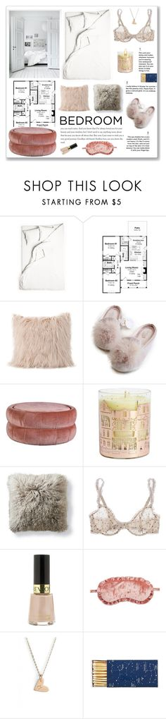 """""""Bedroom"""" by linmari ❤ liked on Polyvore featuring interior, interiors, interior design, home, home decor, interior decorating, NEOM Organics, Frontgate, STELLA McCARTNEY and Revlon"""