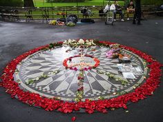 strawberry fields central park. Location: West Side between 71st and 74th Streets.