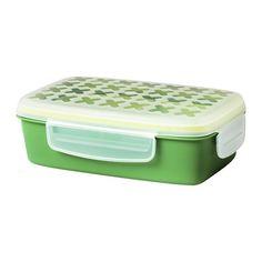 ФЕСТМОЛТИД Контейнер для завтрака, зеленый, 22x14x7 см