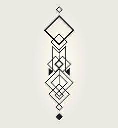 Geometric Tattoo Design, Geometric Drawing, Geometric Designs, Geometric Shapes, Mini Tattoos, Cute Tattoos, Body Art Tattoos, Small Tattoos, Geometry Art