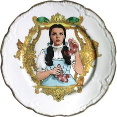 The Wizard of OZ - Judy Garland - Vintage Porcelain Plate (*) - #0571 SALE by ArtefactoStore on Etsy