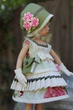 "Effner 13-14"" Little Darling/BJD *PARIS ROSES* Ensemble by Ladybugs Doll Designs"