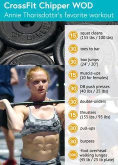 CrossFit Annie Thorisdottir's favorite WOD: Chipper