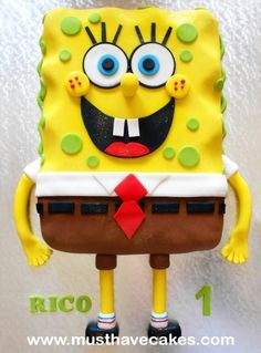 Spongebob Cake By Angelique_MustHaveCakes on CakeCentral.com