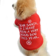 Christmas Pet Dog Winter Clothes