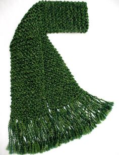 Extra Long Forest Green Scarf Men Women Chunky Hand Knit Winter Scarf 10 ft super long handmade by SticksNStonesGifts