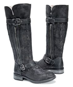 Look at this Black Tabby Boot on #zulily today!