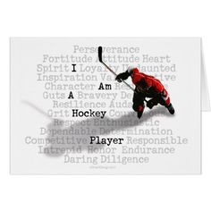 I am a Hockey Player greeting & note cards