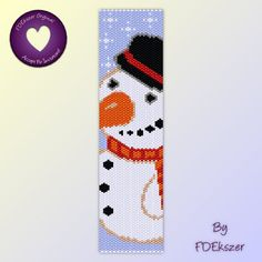 Beadweaving Pattern Peyote / Loom for bracelet: Fuzzy Frosty-Buns - PDF - buy 2 get 1 free mix and match offer - bp291. $6.50, via Etsy.