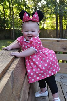 Diy no sew minnie mouse costume pinterest minnie mouse costume sew happy childrens corner louise pattern to make a minnie mouse halloween costume minnie solutioingenieria Images