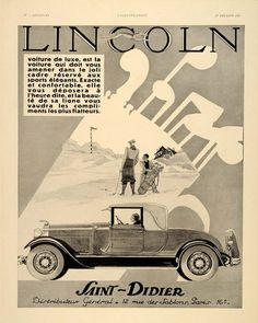 1930 French Ford Car Ad