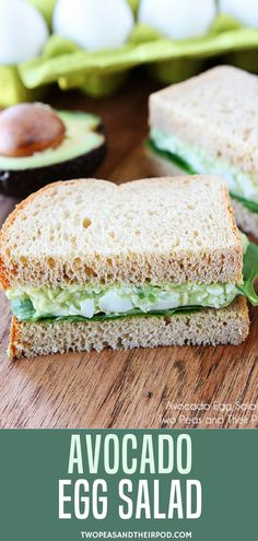 Avocado Egg Salad Is The Best Egg Salad Recipe, You Will Love The Avocado Addition. Utilize Your Hard Boiled Eggs To Make This Delicious Egg Salad Recipe Visit For More Simple, Fresh, And Friendly Recipes. Healthy Egg Salad, Easy Egg Salad, Avocado Egg Salad, Healthy Snacks, Healthy Recipes, Healthy Eating, Avocado Egg Toast, Guacamole Salad, Healthy Breakfasts