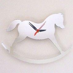 Rocking Horse Clock Mirror